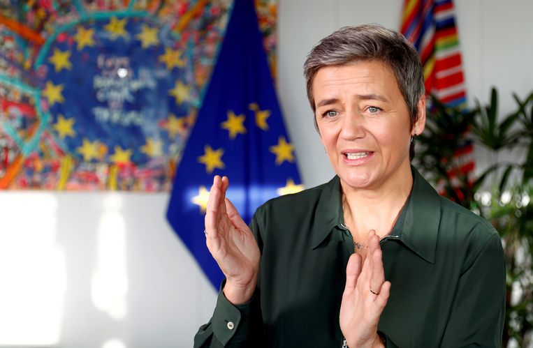 Europees Commissaris Margrethe Vestager (Mededinging). Beeld REUTERS