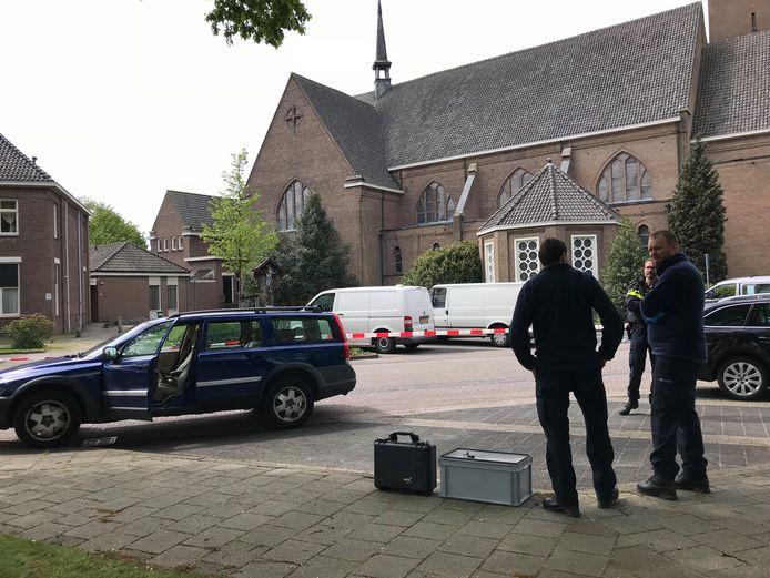 De auto van de verdachte in Schijndel.