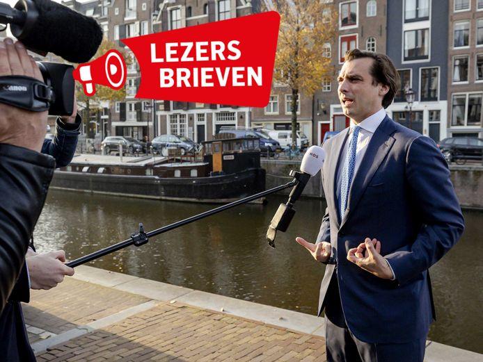 Thierry Baudet staat de pers te woord.