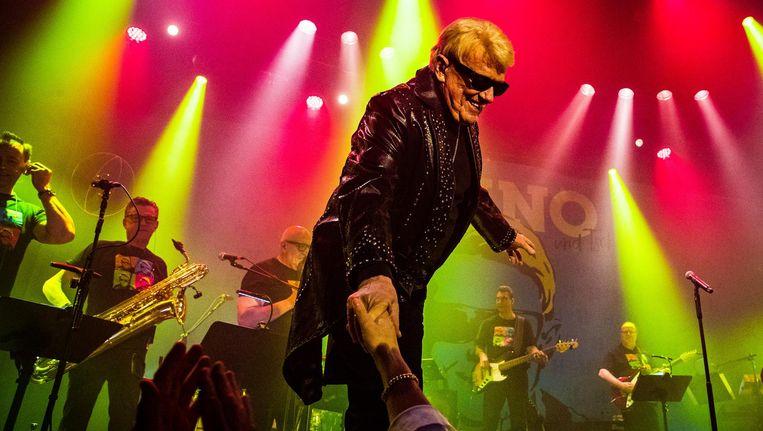 Oude en nieuwe fans waren gisteren bij het allerlaatste concert van Heino in de Melkweg. Beeld Paul Bergen