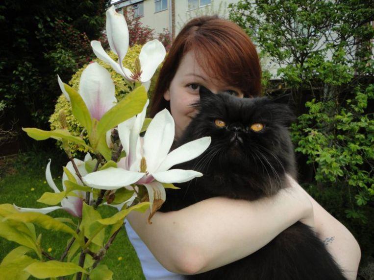 Yulia en de kat van Sergei