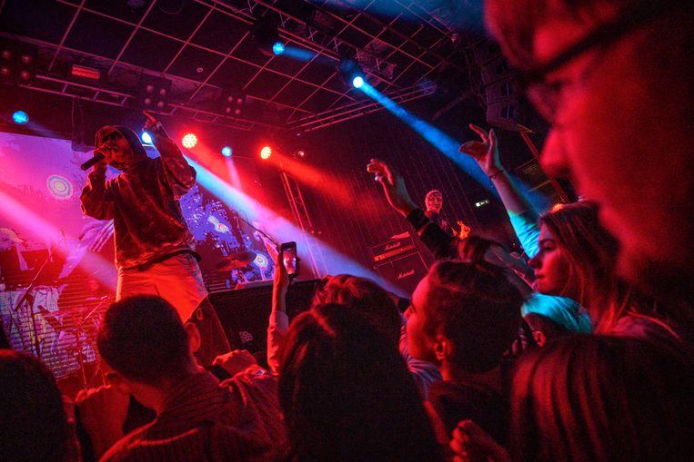 Rapper Husky in Arkhangelsk.  Beeld Foto Yuri Kozyrev