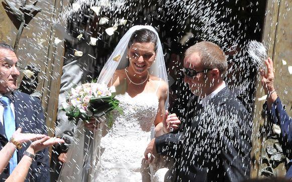 Lucia Riina op haar huwelijksdag in 20018.