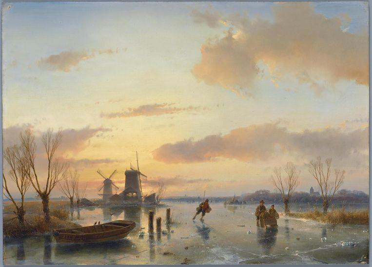 Andreas Schelfhout, Winterlandschap, 1846 Beeld Collectie Teylers Museum