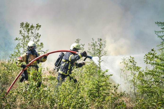 Eind mei moest de brandweer in actie komen bij een bosbrand in Twente