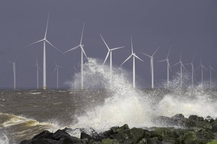 De turbines van Westermeerwind leverden in maart 2016 voor het eerst maximaal vermogen.