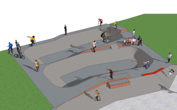Impressie skatebowl.
