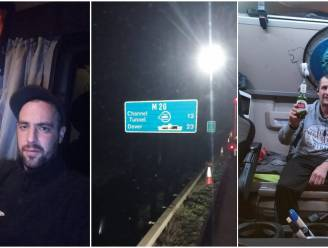 """Drie gestrande truckers over hun kerstavond in de cabine: """"Geen slaap of eten, wel een pintje"""""""