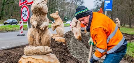 Waar eens de Tilburgse dierentuin was, duiken nu reusachtige eekhoorns op