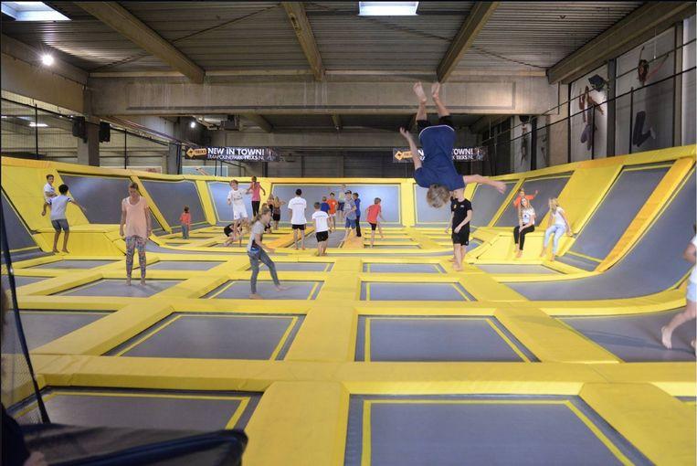 JumpSky in Lochristi zal eruit gaan zien zoals deze trampolinehal in Leidschendam in Nederland.
