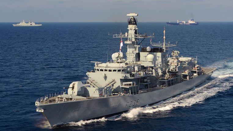 Een Brits fregat. Beeld null