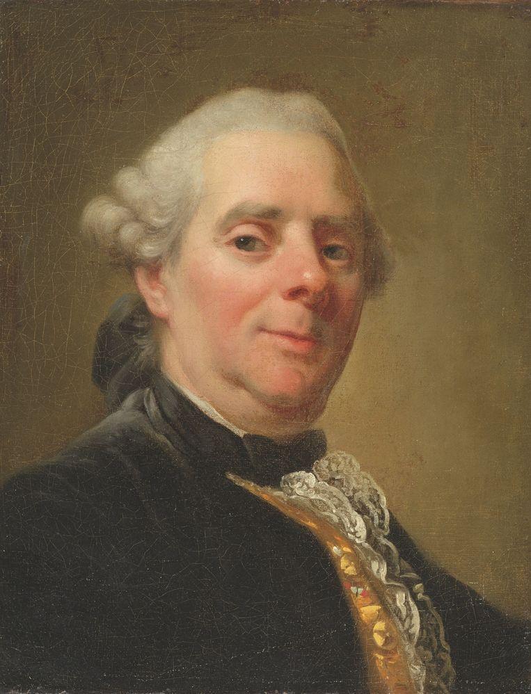 Zelfportret, Alexander Roslin, 1785. Beeld