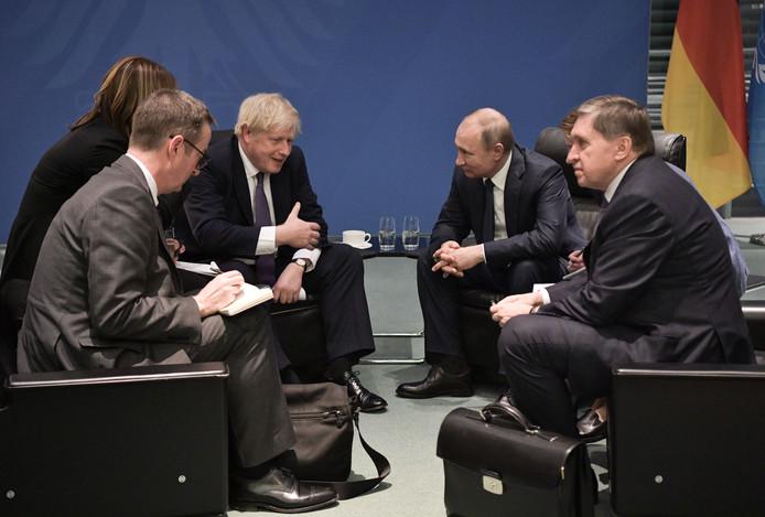 Boris Johnson and Vladimir Poutine.