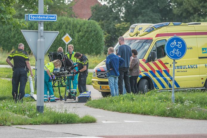 Scooterrijder gewond bij Scherpenisse.