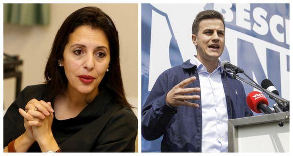 Écolo-covoorzitter Zakia Khattabi.  Foto rechts: Aanstaand Kamerlid Dries Van Langenhove is gisteren formeel inverdenking gesteld  wegens vermeende inbreuken op onder meer de racismewet, de negationismewet en de wapenwet.
