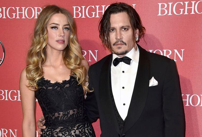 Johnny met zijn ex-vrouw, Amber Heard.