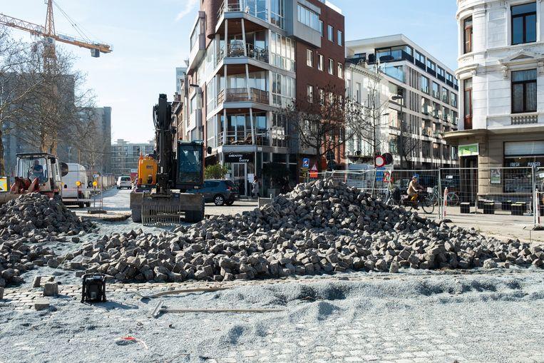 Het kruispunt van de Waalsekaai met de Verviersstraat zal binnenkort opnieuw open kunnen.