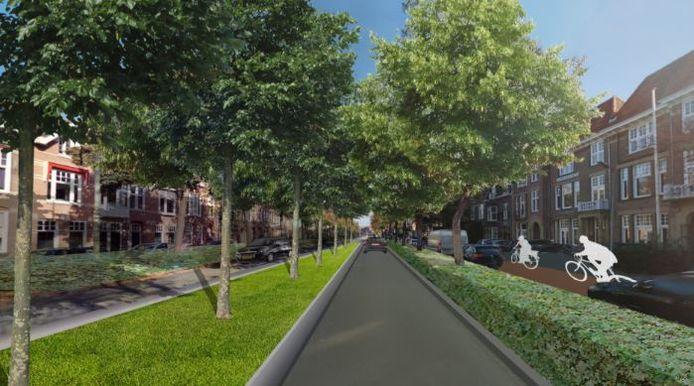 En zou komt de nieuwe Koningsweg, als onderdeel van de Oranjeboulevard,  er in de toekomst uit te zien.
