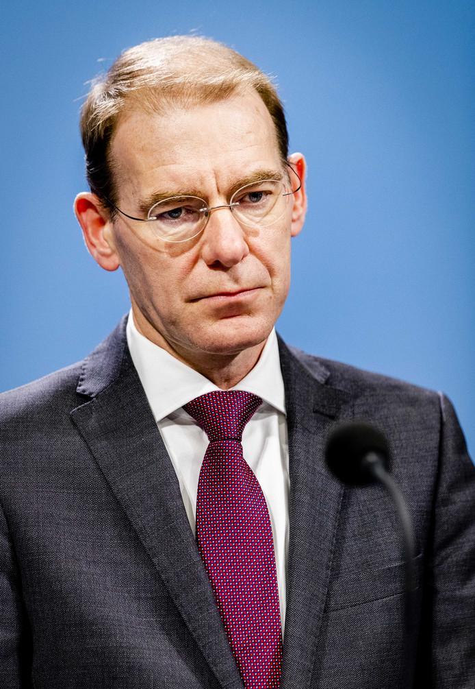 Staatssecretaris Menno Snel van Financiën op 15 november tijdens de persconferentie over de conclusies van de commissie-Donner, die het optreden van de Belastingdienst onderzocht in de affaire rond de kinderopvangtoeslag.