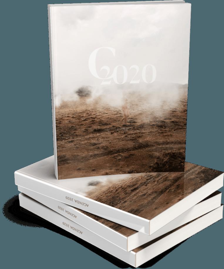 Marisa Papen liet uit ecologische overwegingen slechts 100 exemplaren van de agenda drukken.