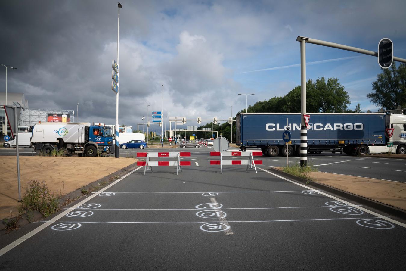 Pleijroute afgesloten op Nijmeegseplein in Arnhem.