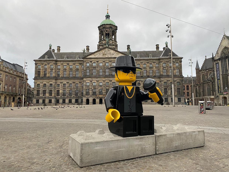 Lego-versie André Hazes. Het beeld is gemaakt door Dutch Deco Finish. Beeld Streetart Frankey