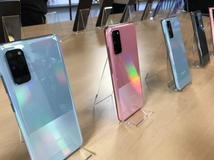 La série S20 de Samsung.