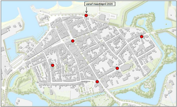 De ondergrondse containers komen op deze plekken in Zaltbommel.