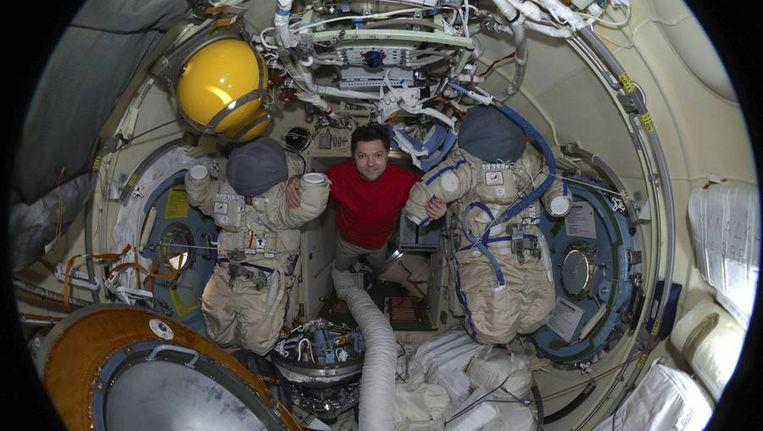 De Russische kosmonaut Oleg Kononenko, op een foto die gisteren werd gepubliceerd. Beeld reuters