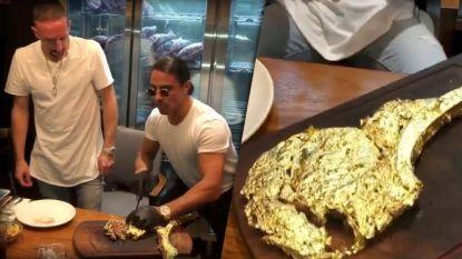 Bon appétit! Franck Ribéry trakteert zichzelf op gouden entrecote van 1.200 euro