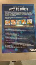 Een poster op de muren bij NXP.