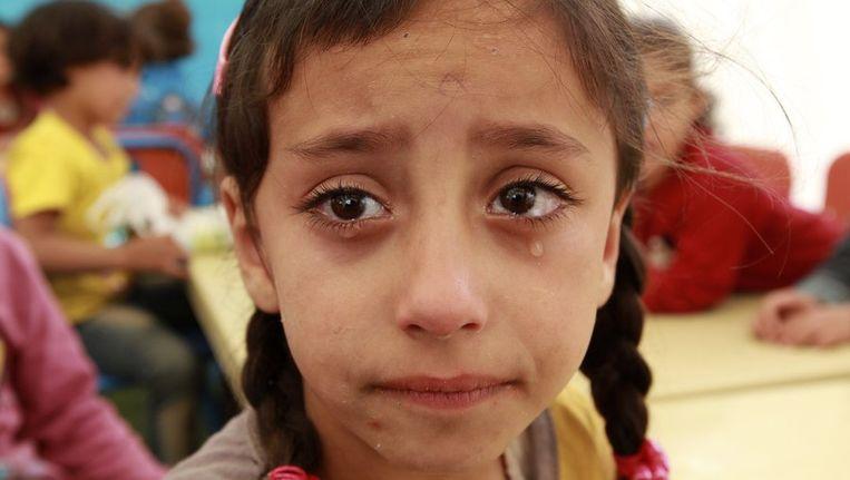 Een Syrisch meisje in het vluchtelingenkamp Beeld reuters