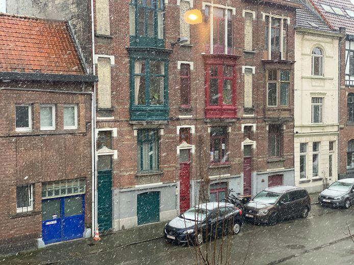 Sneeuw in Gent.