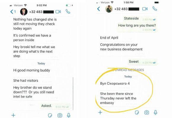 De sms-berichten afkomstig van het gsm-nummer van Anthony de Caluwé.