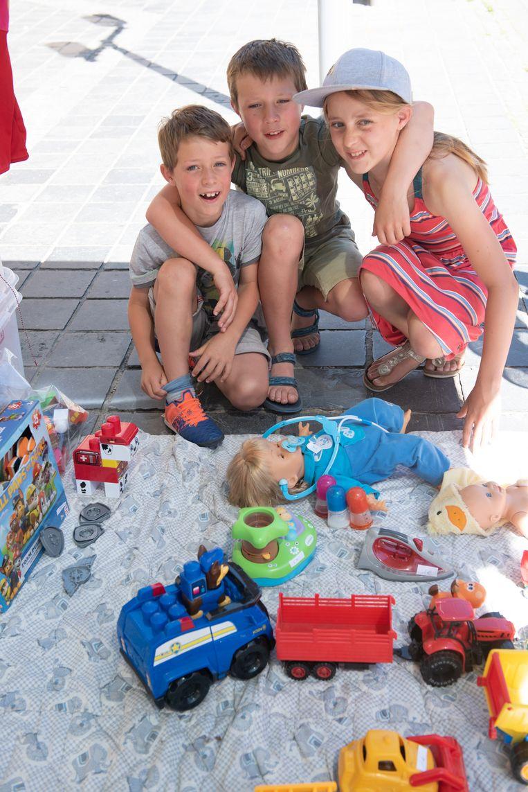 Remi, Leon en Paulien daagden wél op met hun oud speelgoed en hebben zich dat niet beklaagd.