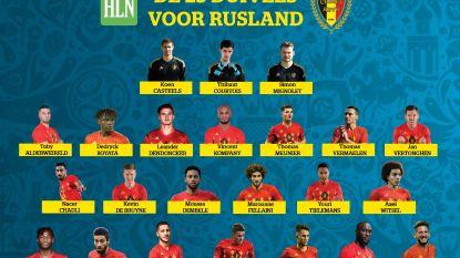 Dit zijn de 23 die de definitieve WK-selectie van Martínez gehaald hebben