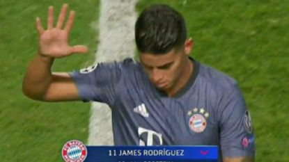 Hoe James Rodriguez met simpel gebaar het Benfica-publiek compleet te kijk zette