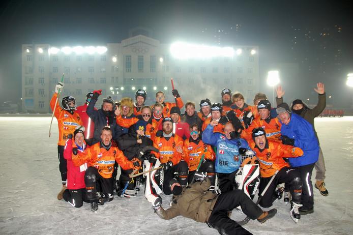 Het Nederlands team viert het succes in China, vorig jaar.
