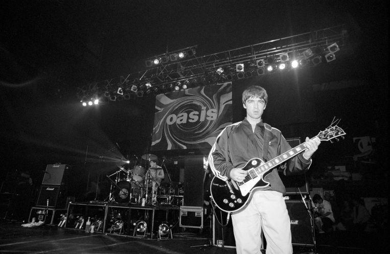 Oasis (op de voorgrond Noel Gallagher) in 1994. Beeld Getty Images