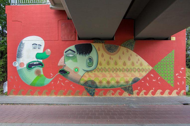 Street art in Heerlen Beeld Luc Lodder