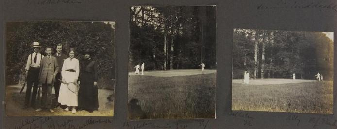 Het fotoalbum bevat veel foto's van uitstapjes naar vrienden en familie.