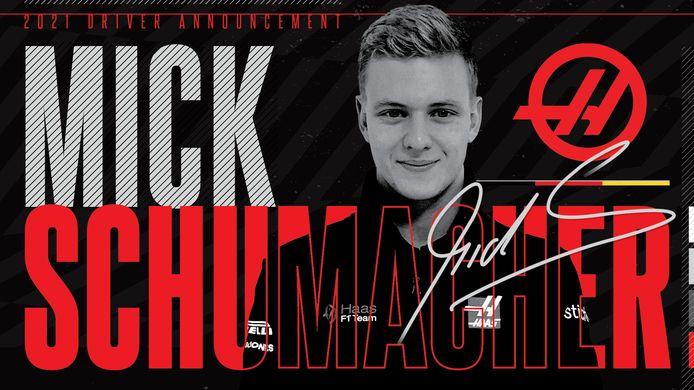 Mick Schumacher signe chez Haas et sera en F1 la saison prochaine.