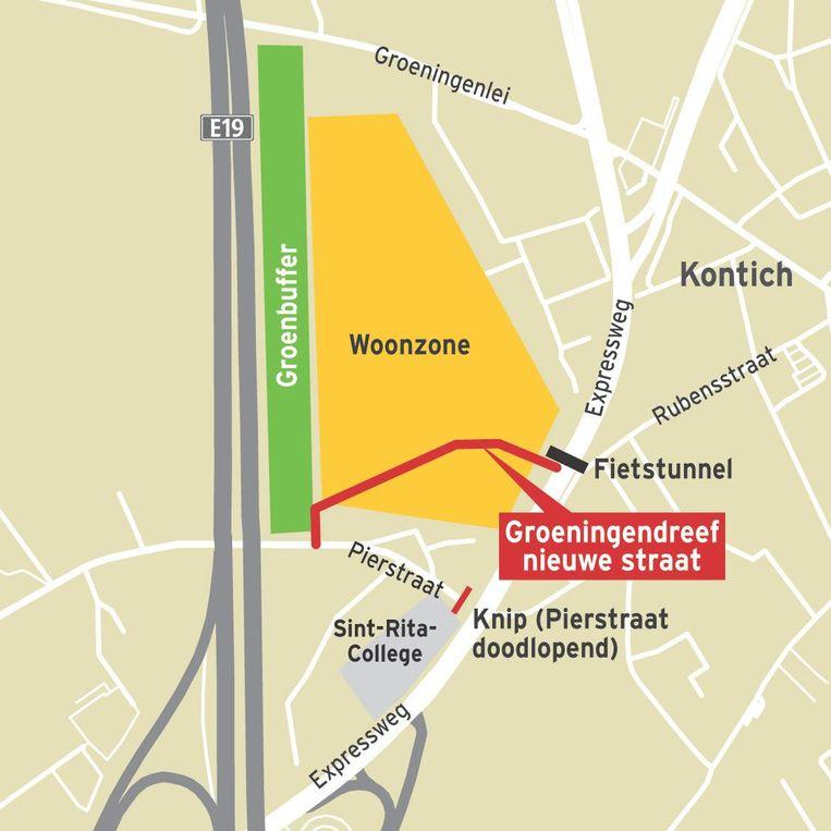 Het kruispunt Rubensstraat-N171 bleek uit een enquête in onze krant vorig jaar 'het zwartste punt van Kontich'. Op die plaats komt nu een fietstunnel.
