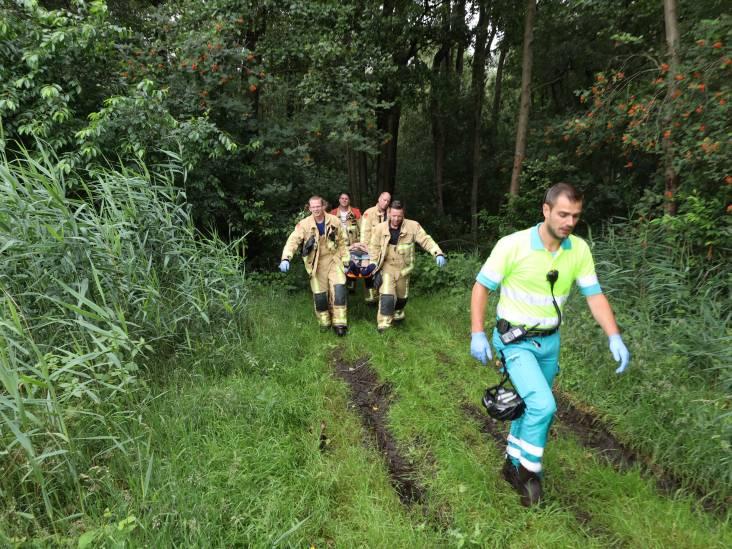 Mountainbiker zwaargewond na val diep in de bossen tussen Veldhoven en Riethoven