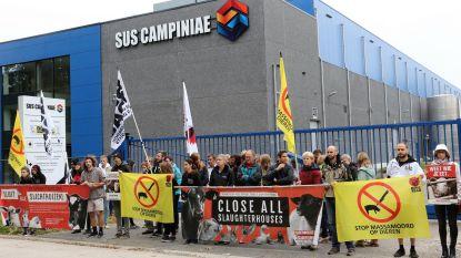 Buurt protesteert tegen verdere uitbating slachthuis