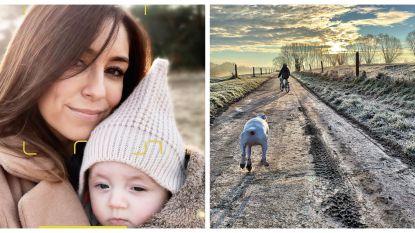 SHOWBITS. De selfie van Kim Van Oncen en wandelen met Sofie Dumont