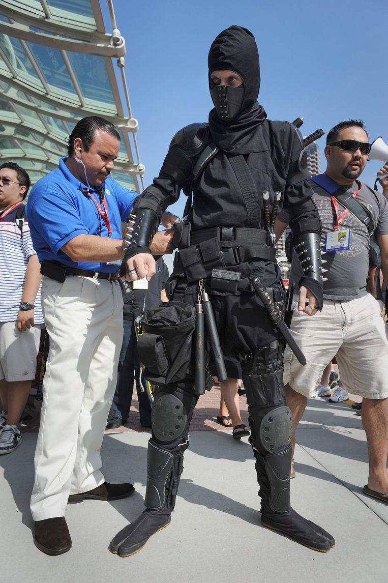 Een ninja (en geen criminele ninja, voor zover bekend). Beeld epa