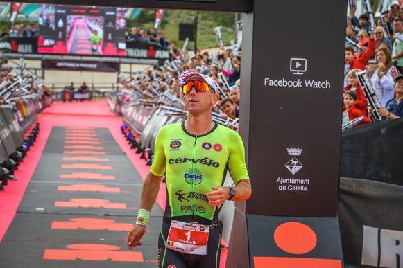 Frederik Van Lierde werd tweede in de Ironman van Barcelona.