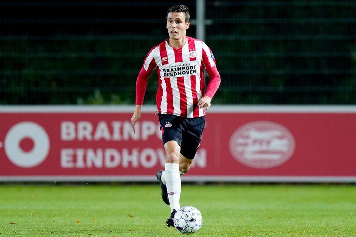 Steven Theunissen schopte het tot een debuut in oefenduels bij PSV 1, maar kon niet doorbreken.