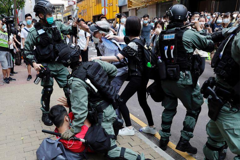 Bij het protest in Hongkong werden de voorbije dagen honderden mensen opgepakt.